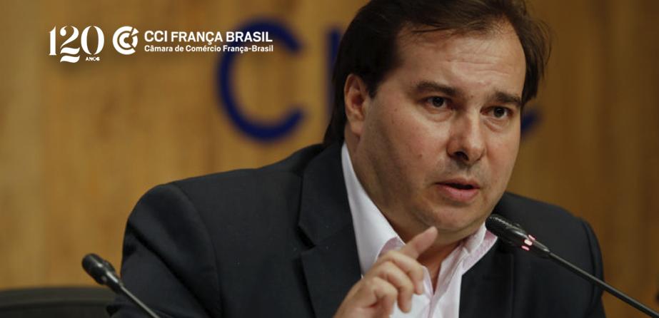 Em videconferência promovida pela CCIFB, o presidente da Câmara dos Deputados, Rodrigo Maia, afirmou que MPs serão aprimoradas em Congresso Nacional.
