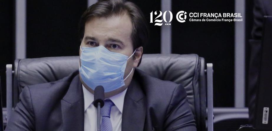 Durante videoconferência realizada pela CCIFB, Rodrigo Maia afirmou que ser exagero dizer que extensão do Auxílio Emergencial de R$600 quebrará o país.